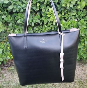 Authentic Kate Spade Lawton Way Tote with Rose Bow